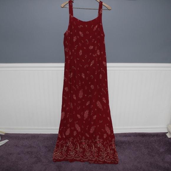 Eddie Bauer Dresses & Skirts - Red Maxi Dress